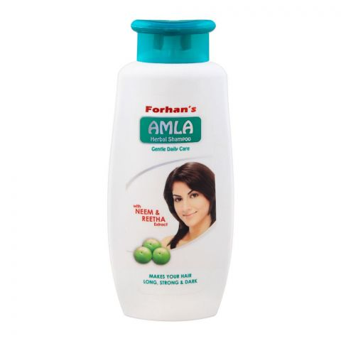 Forhan's Amla Gentle Daily Care Herbal Shampoo, With Neem & Reetha Extract, 400ml