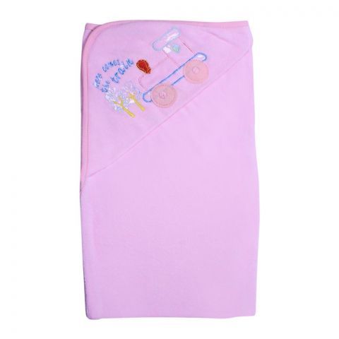 Angel's Kiss Textile Baby Bath Towel, Pink