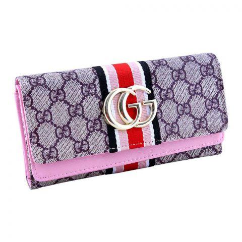 Women Hand Wallet Pink, 2711