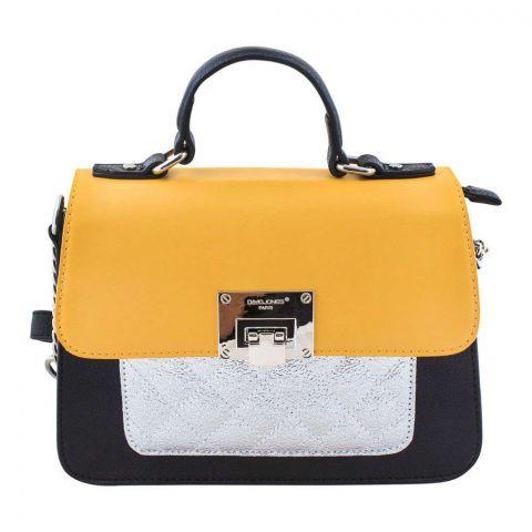 Women Handbag Yellow, 5920-2
