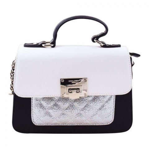 Women Handbag White, 5920-2