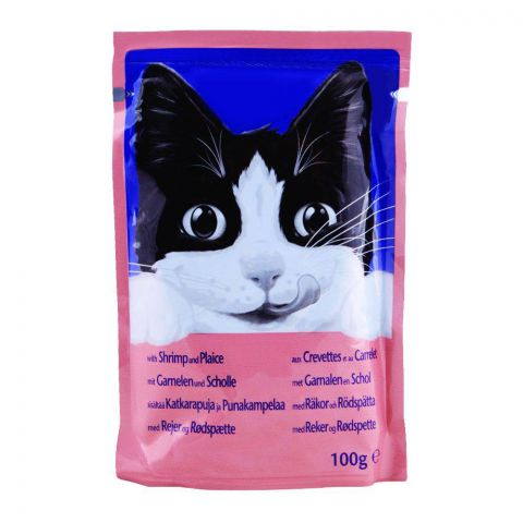 Felix With Cat Shrimp & Plaice Cat Food, Pouch, 100g