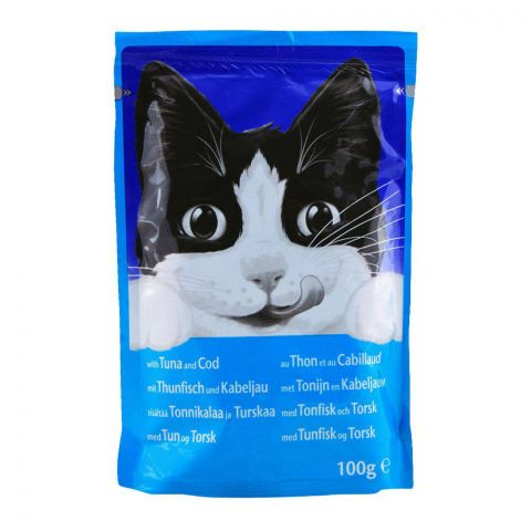 Felix With Cat Tuna & Cod Cat Food, Pouch, 100g