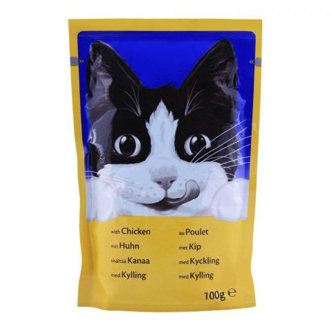 Felix With Chicken Cat Food, Pouch, 100g