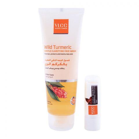 VLCC Bundle Wild Turmeric Gentle Clarifying Face Wash 75ml + Lip Balm