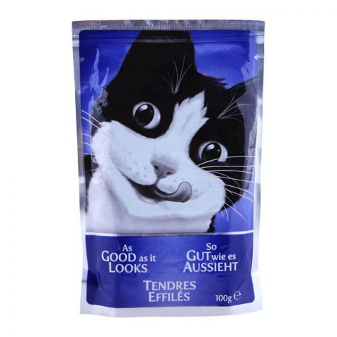 Felix As Good As It Looks With Beef Cat Food, Pouch, 100g