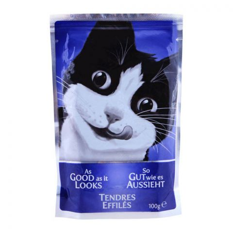 Felix As Good As It Looks With Ham Cat Food, Pouch, 100g