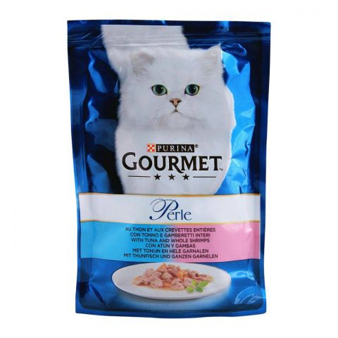 Gourmet Perle With Tuna Shrimp, Cat Food Pouch, 85g