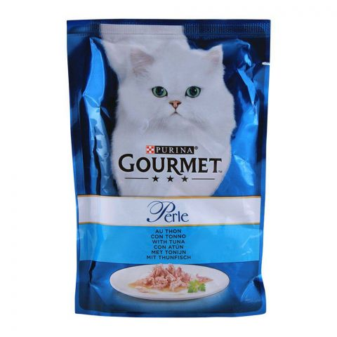 Gourmet Perle With Tuna, Cat Food Pouch, 85g