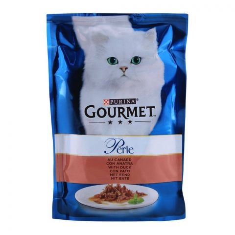 Gourmet Perle With Duck, Cat Food Pouch, 85g