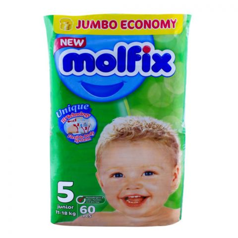 Molfix No. 5, Junior 11-18 KG, 60-Pack