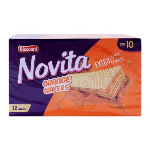 Bisconi Novita Orange Wafers, 12 Packs