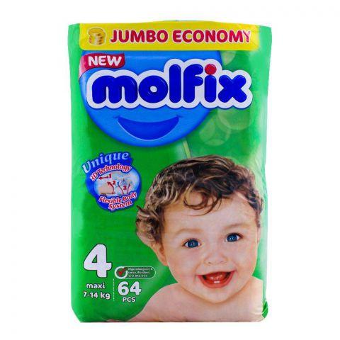 Molfix No. 4, Maxi 7-14 KG, 64-Pack