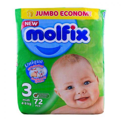 Molfix No. 3, Midi 4-9 KG, 72-Pack