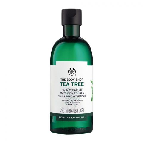 The Body Shop Tea Tree Skin Clearing Mattifying Toner, Suitable For Blemished Skin, 250ml