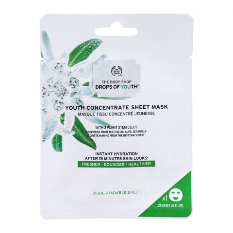 The Body Shop Drops Of Youth, Youth Concentrate Sheet Mask, 21ml