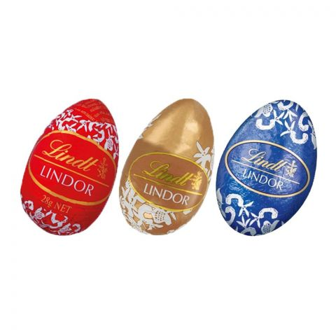 Lindt Lindor Milk, White & Dark Chocolate Eggs 100g
