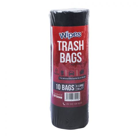 Wipes Trash Bags, Extra Large, 28x37 Inches, 10-Pack