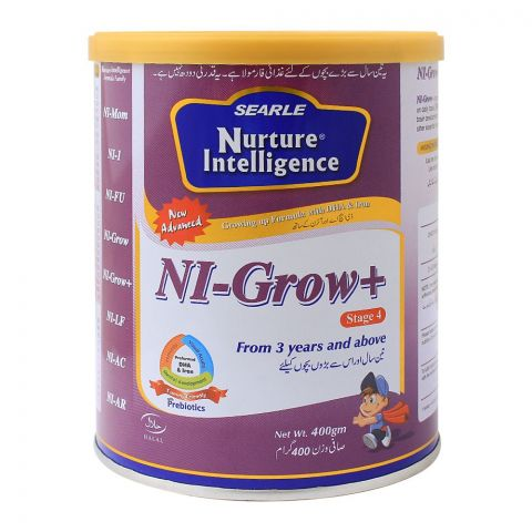 Nuture Intelligence NI-Grow+ Stage 4, Growing-Up Formula, 400g