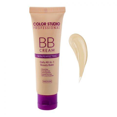 Color Studio Skin Perfecting BB Cream, Daily All-In-1 Beauty Balm, Medium, 30ml
