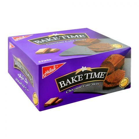 Hilal Bake Time Chocolate Cake Slices, 6 Packs, 48g