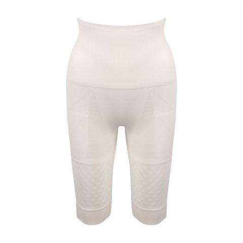 Miss Fit Double Layer Full Stomach With Cuff Girdle Body Shaper, Skin Color, 1228