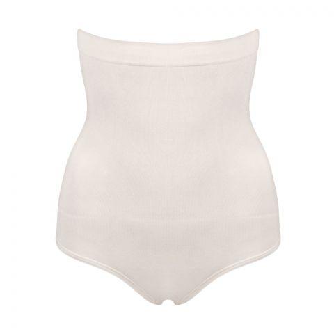 Miss Fit Slip Girdle, Parlak Mideli Korse Body Shaper Seamless Underwear, Skin Color, 33641