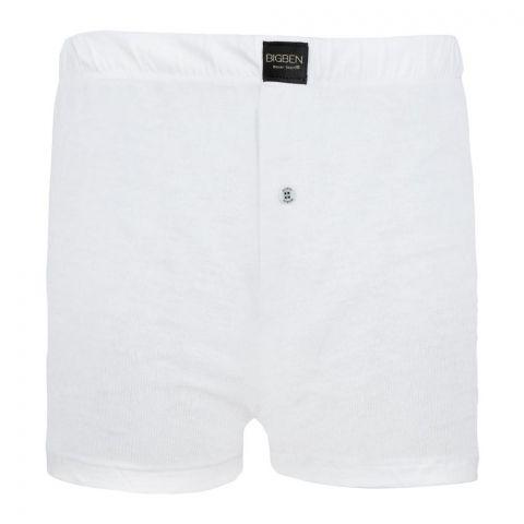 BigBen Loose Fit Boxer Shorts, White