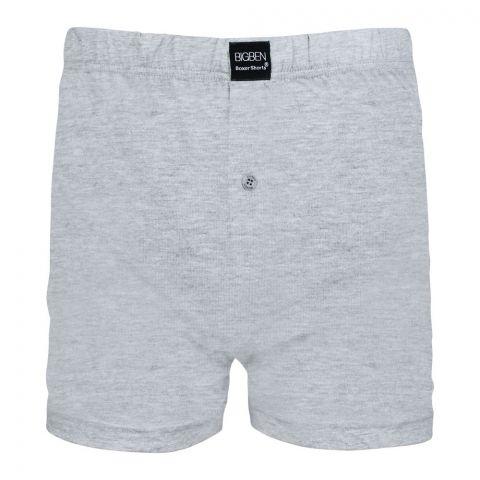 BigBen Loose Fit Boxer Shorts, H. Grey