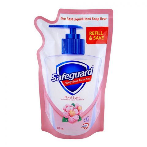 Safeguard Floral Scent Hand Wash, Pouch Refill, 420ml