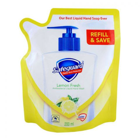 Safeguard Lemon Fresh Hand Was, Pouch Refill, 200ml