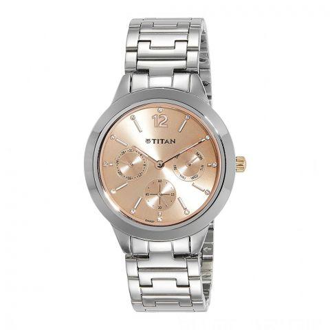 Titan Neo Analog Rose Gold Dial Watch For Women, 2588KM03
