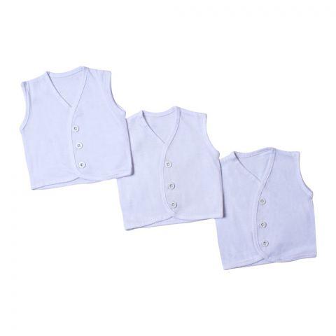 Angel's Kiss Newborn Vest, Size Zero, White