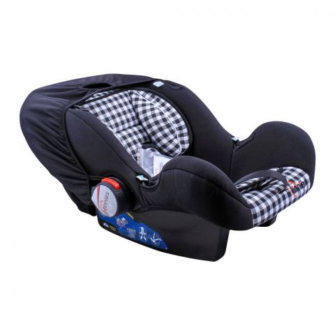 Tinnies Baby Carry Cot Black Check, T-001