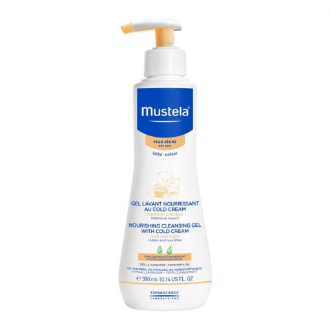 Mustela Hair and Body Nourishing Cleansing Gel With Cold Cream, 300ml