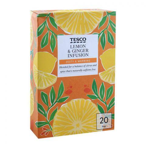 Tesco Lemon & Ginger Infusion Tea Bags 20-Pack