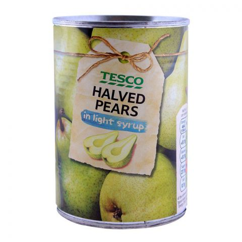 Tesco Halved Pears In Light Syrup 410g