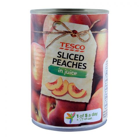 Tesco Sliced Peaches In Juice 410g