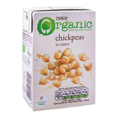 Tesco Organic Chick Peas In Water 380g