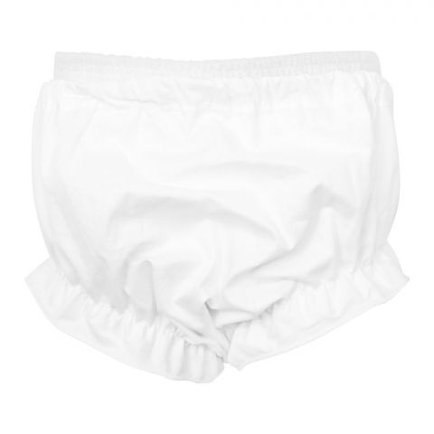 Twin Baby Frill Panty, White