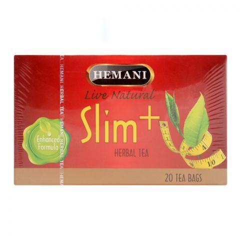 Hemani Herbal Slim+ Tea Bags, 20-Pack
