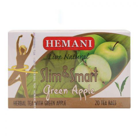 Hemani Slim & Smart Green Apple Herbal Tea Bags, 20-Pack