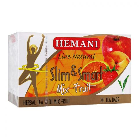 Hemani Slim & Smart Mix Fruit Herbal Tea Bags, 20-Pack