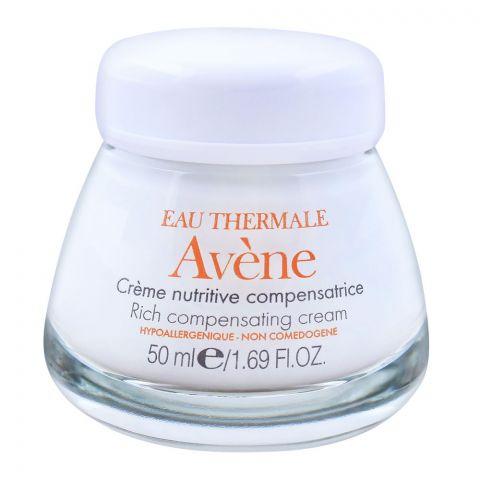 Avene Rich Compensating Cream, Nourishing Face Moisturizer, Dry Sensitive Skin, 50ml