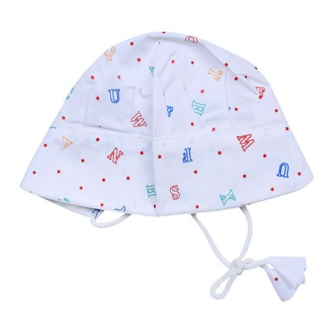 Angel's Kiss Baby Dori Cap, White