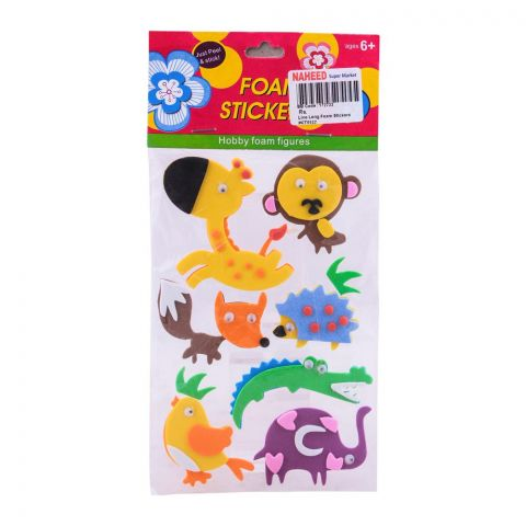 Live Long Foam Animal Stickers, CT0522