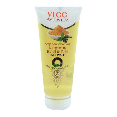 VLCC Ayurveda Deep Pore Cleansing & Brightening Haldi & Tulsi Face Wash 100ml