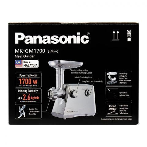 Panasonic Meat Grinder, 1700W, MK-GM1700, Silver, Japan Blade