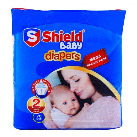Shield Baby Diapers No. 2, 3-6kg Small, 70-Pack