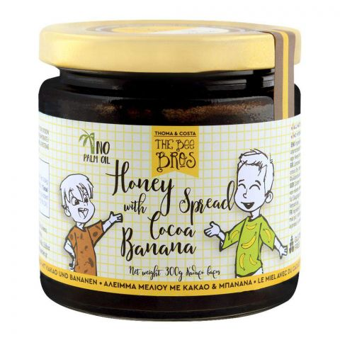 The Bee Bros Honey Spread With Cocoa Banana 300g